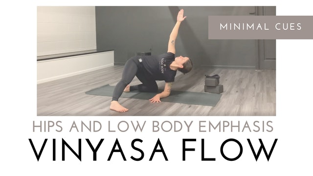Hips and Low Body Emphasis   Minimal Cues Vinyasa Flow