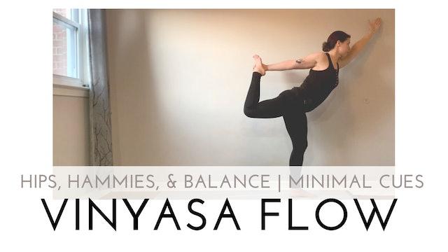 Hips, Hammies, and Balance   Minimal Cues Vinyasa Flow