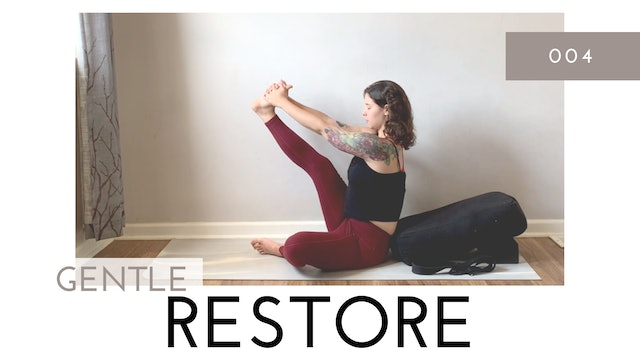 Gentle Restore 004   Prop and Wall Assisted Seated and Reclined Yoga