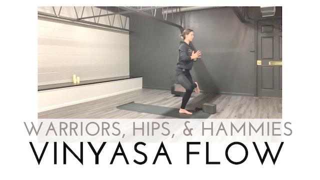 Warriors, Hips, and Hammies Vinyasa Flow