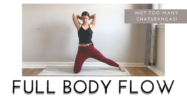 Not too Many Chaturangas   Full Body Flow