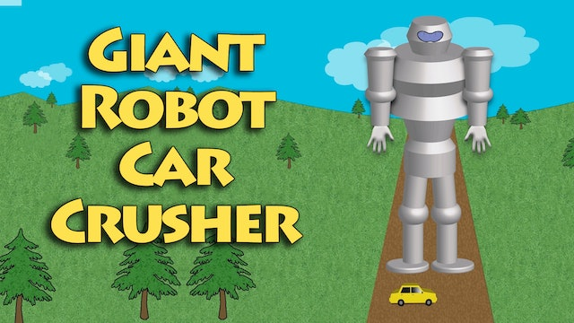 Giant Robot Car Crusher