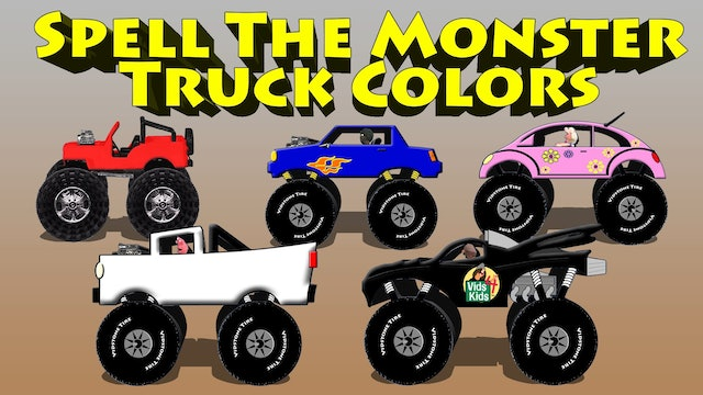 Spell The Monster Truck Colors