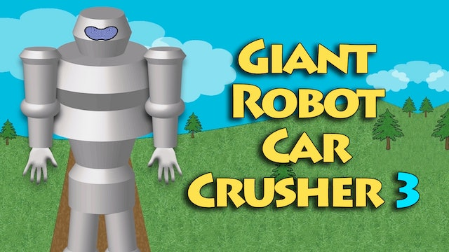 Giant Robot Car Crusher 3