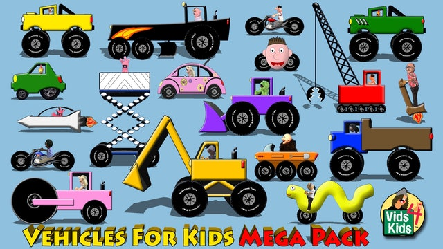Vehicles For Kids Mega Pack