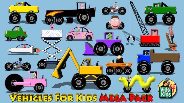 Vehicles For Kids Mega Pack