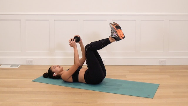 4 Minute Supine Abs with Free Weight