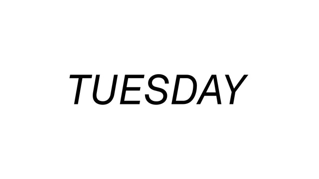 Tuesday 6/8
