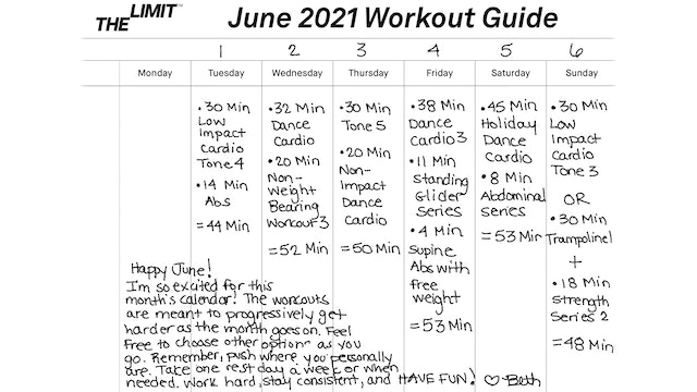 June 2021 Workout Guide
