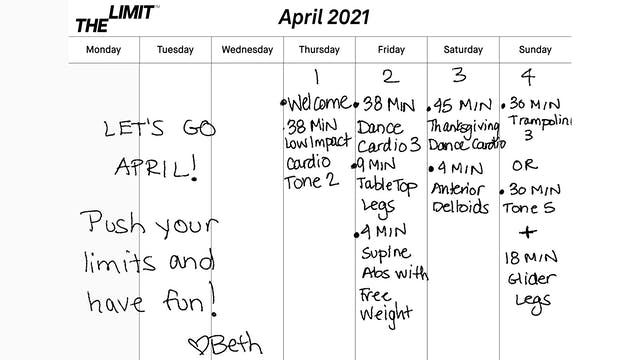 April 2021 Workout Guide