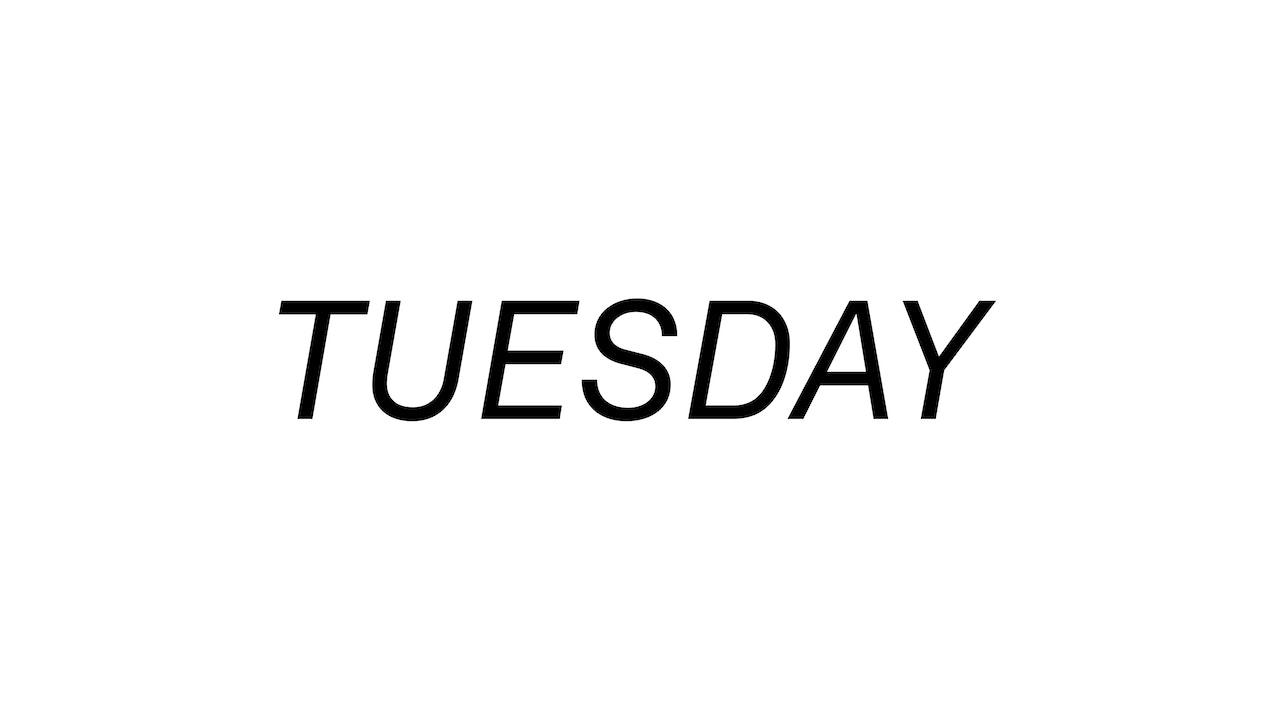 Tuesday 8/31