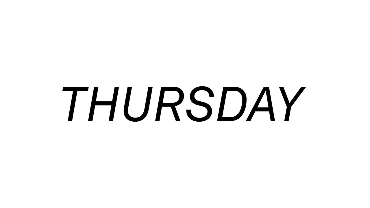 Thursday 5/27