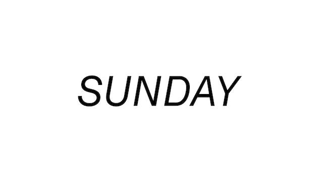 Sunday 8/29