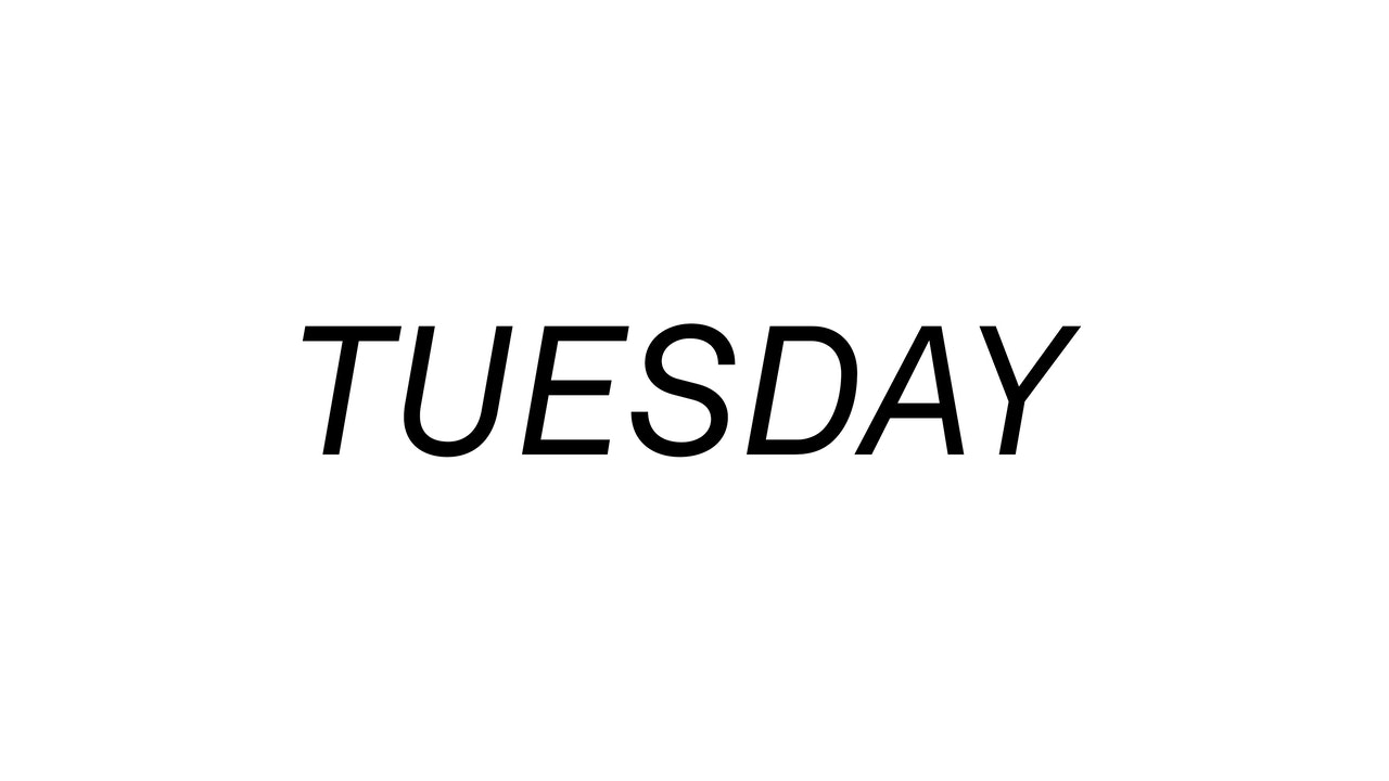 Tuesday 10/12