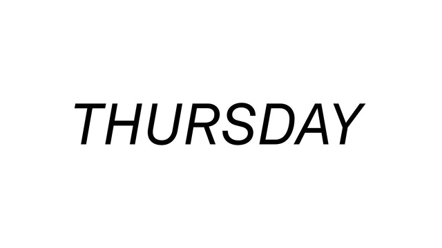 Thursday 10/7
