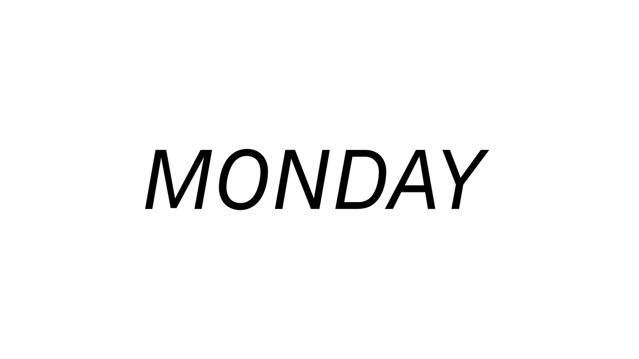 Monday 9/13