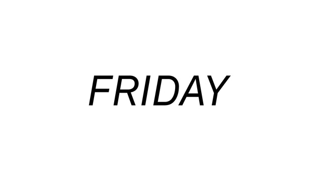 Friday 4/30