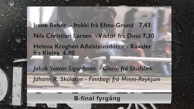B-final fyrgång, fredag