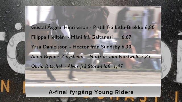 A-final fyrgång young riders, lördag ...