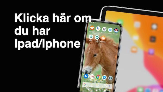 Fixa en Töltridingapp till din Iphone:Ipad