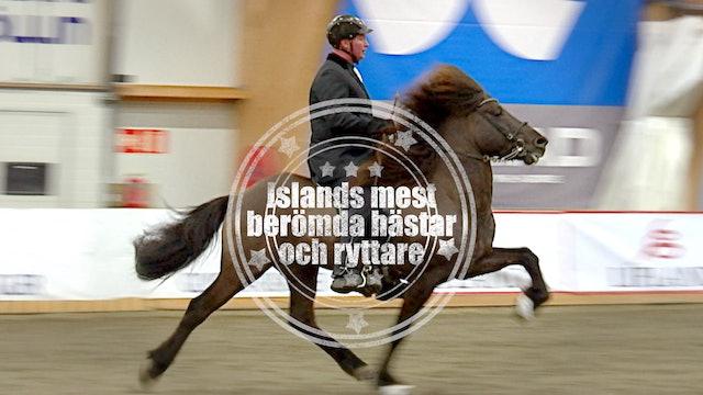 Islands mest berömda hästar och ryttare.