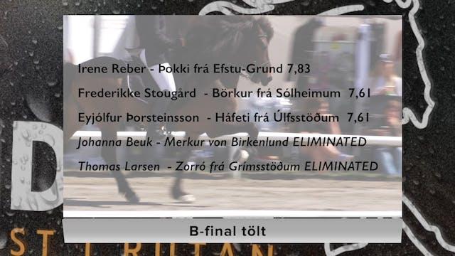 Tölt B-final lördag 12-8