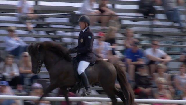 Ryttare och hästar i A-final Fyrgån...
