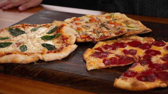 Pizza delgadita y crujiente