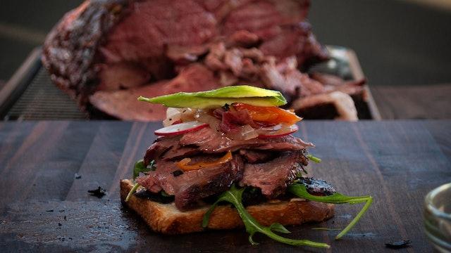 Sandwich de roast beef ahumado