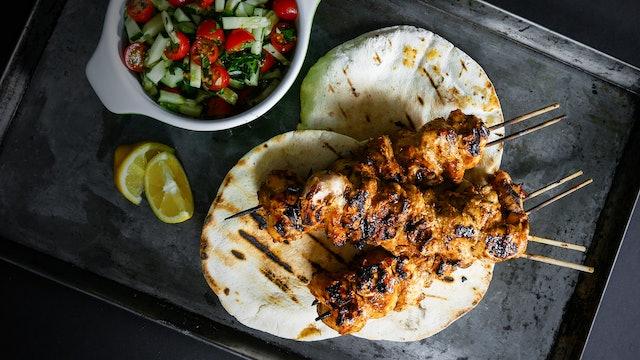 Kebabs turcos de pollo