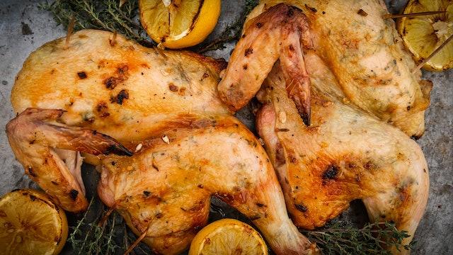 Pollo al ajo y limón