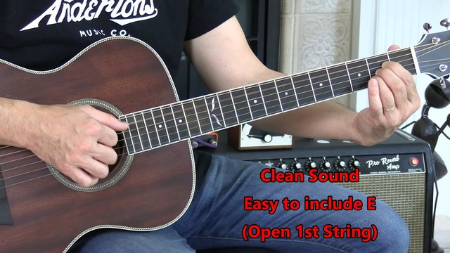 B5 Open Chord - A - Fingerpicking - Combine Chords