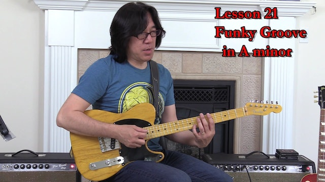 TF Lesson 021 Funky Groove (Sunny) in A minor