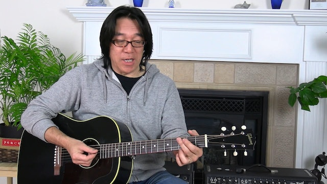 B9 Open Chords - Songwriter Chords - A, B, C Sections - Strumming, Muting