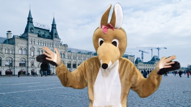 Rockin' Roo Visits Russia