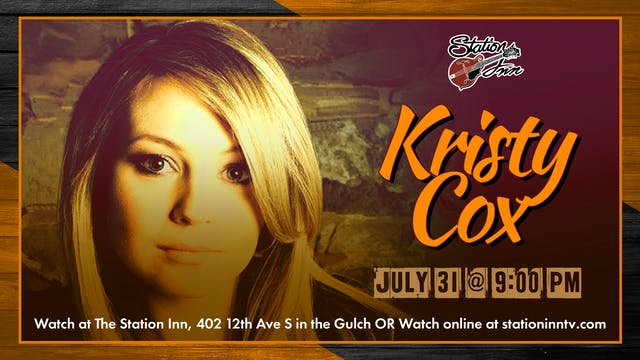Kristy Cox (Live recording)