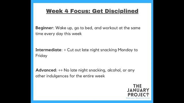 Week 4 Commitments