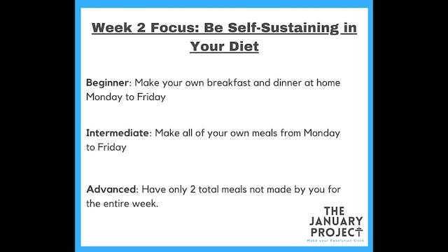 Week 2 Commitments