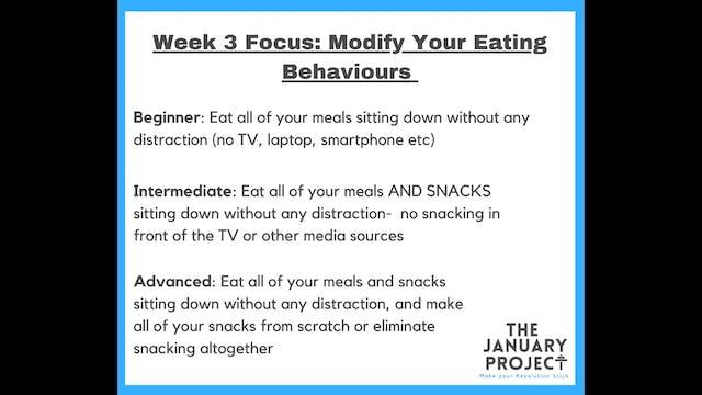 Week 3 Commitments
