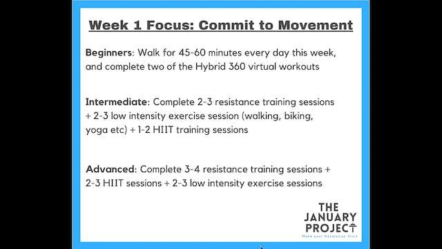 Week 1 Commitments