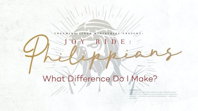 What Difference Do I Make? - November 8, 2020