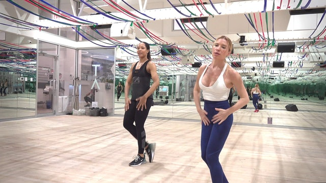 """Bonus Cardio - """"Throw Back"""" with Tracy and LaShonna - Front View"""