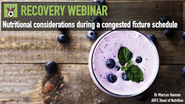 Marcus Hannon: Nutrition during a congested fixture schedule
