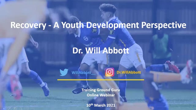 Will Abbott: An Academy perspective on recovery