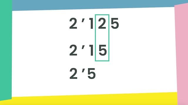 5ºPrim. Mates. Ordenar decimales. Vídeo