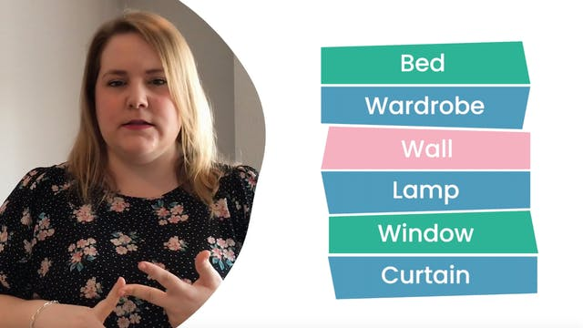 Challenge: Tour guide of your bedroom