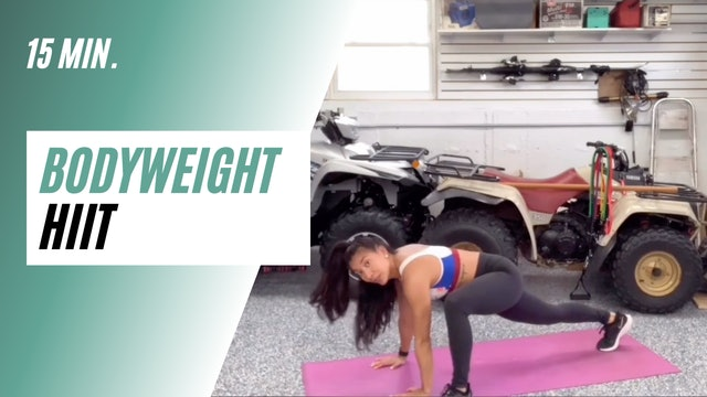 15 min. Bodyweight HIIT
