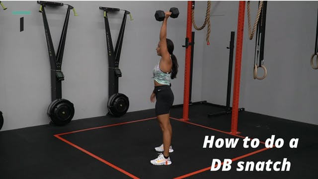 How to do a DB snatch