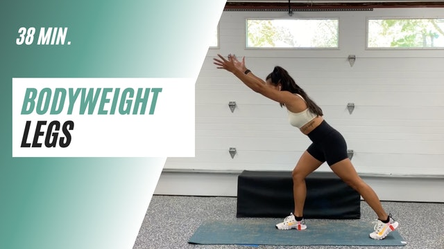 38 min. Bodyweight Legs