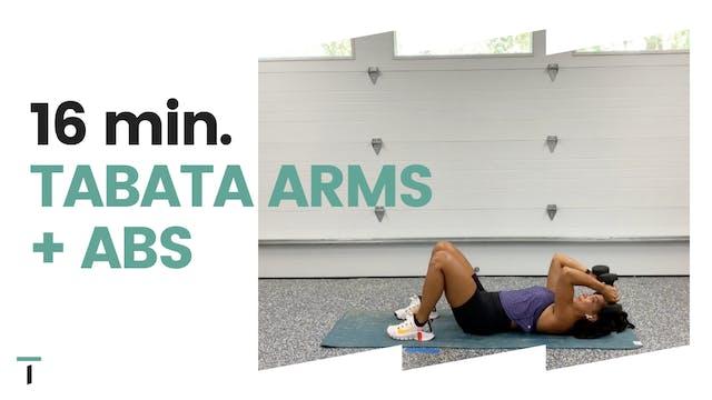 16 min. Tabata Arms + Abs